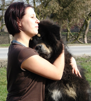 This is me, the Sadaksari Kennel's founder and my Tibetan Mastiff dog, Sultan.
